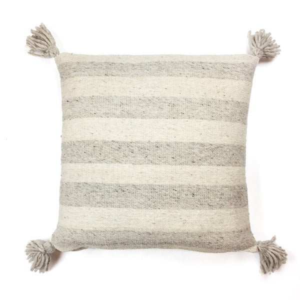 Ancho Stripe Pillow- Grey