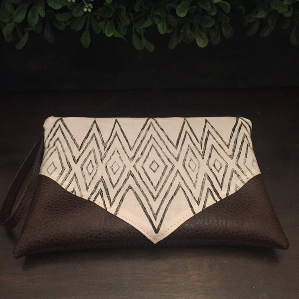 Boho Vegan Leather Casablanca Clutch