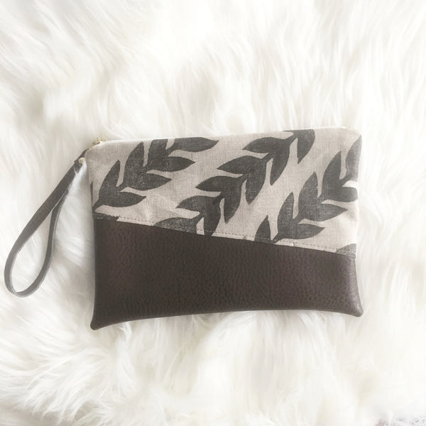 Athens Vegan Leather Clutch