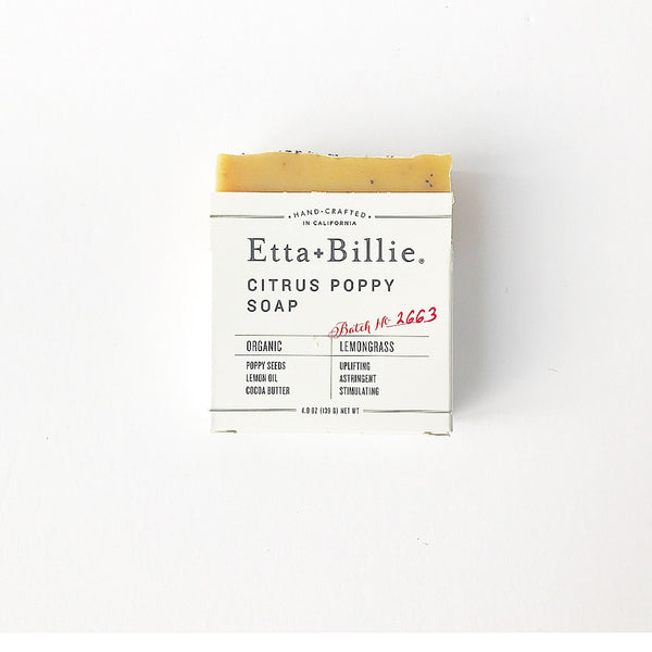 Etta + Billie Citrus Poppy soap- 4.9 oz