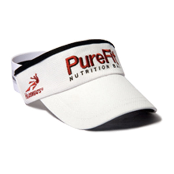 PureFit Nutrition Bars White Visor