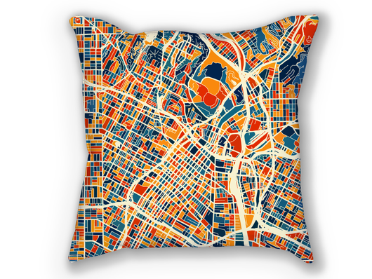 Coussin cartographique de Los Angeles - Style Chroma