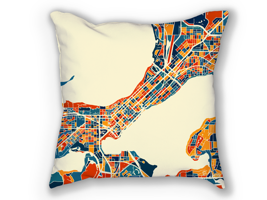 Coussin cartographique de Madison - Style Chroma