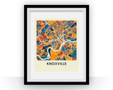 Affiche cartographique de Knoxville - Style Chroma
