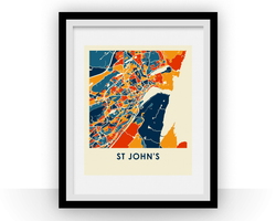 Affiche cartographique de St Johns - Style Chroma