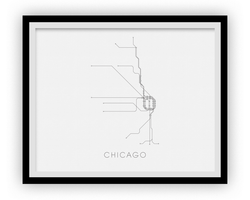 Carte de métro de Chicago