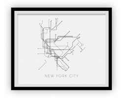 Carte de métro de New York City