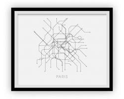 Carte de métro de Paris