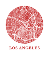 Affiche cartographique de Los Angeles - Style OMap