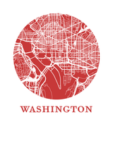 Affiche cartographique de Washington DC - Style OMap