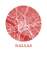 Affiche cartographique de Dallas - Style OMap