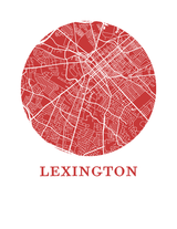 Affiche cartographique de Lexington - Style OMap