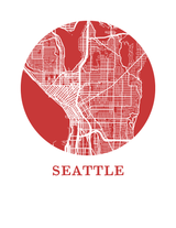 Affiche cartographique de Seattle - Style OMap