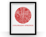 Affiche cartographique de Colorado Springs - Style OMap
