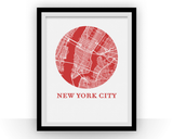 Affiche cartographique de New York City - Style OMap