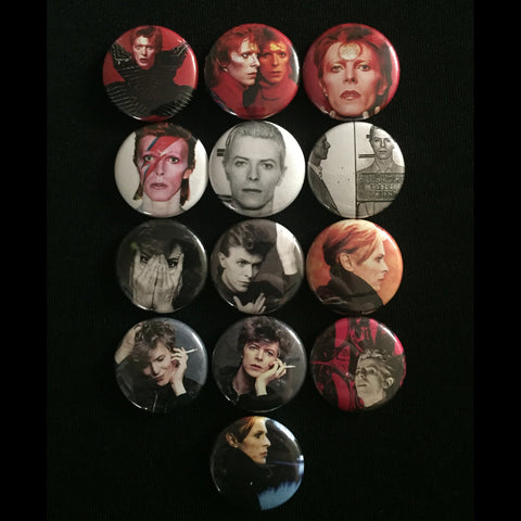 "DAVID BOWIE 1"" buttons"