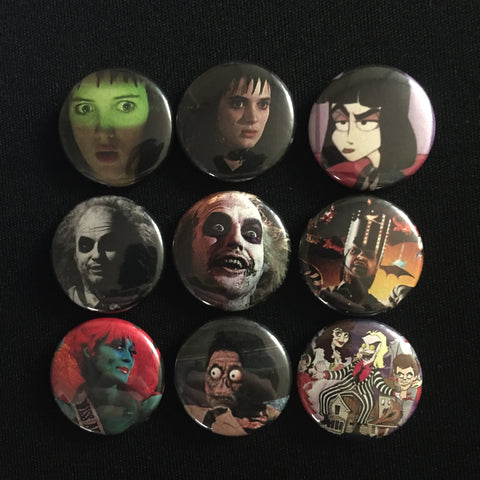 "BEETLEJUICE 1"" buttons"