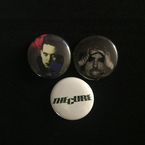 "THE CURE 1"" buttons"