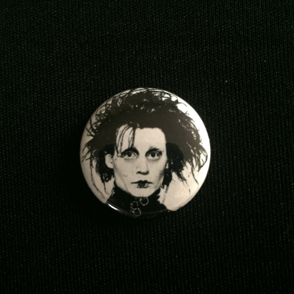 "EDWARD SCISSORHANDS 1"" button"