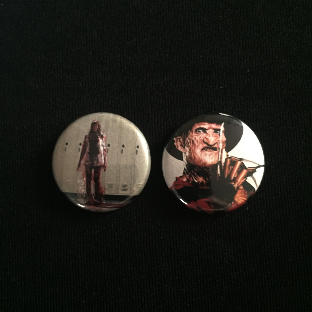 "NIGHTMARE ON ELM STREET 1"" buttons"