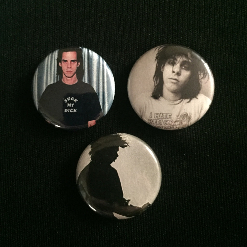 "NICK CAVE 1"" buttons"
