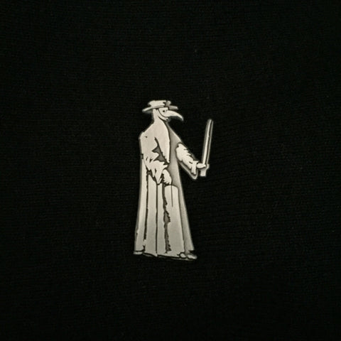 PLAGUE DOCTOR antique brushed silver pin