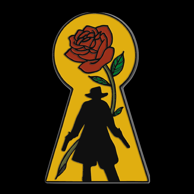THE GUNSLINGER soft enamel pin