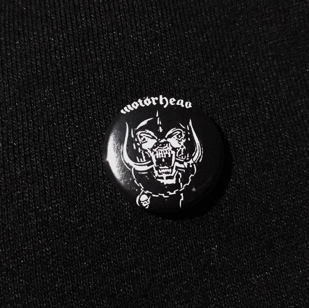 "MOTORHEAD 1"" button"