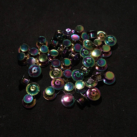 DELUXE BACKINGS oil slick (4x)