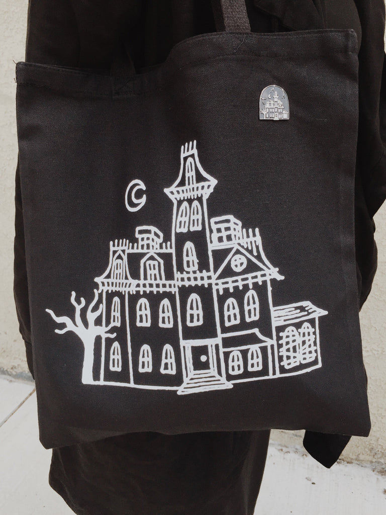 1313 CEMETERY LANE glow in the dark Tote Bag