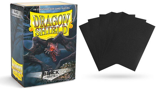 Matte Black Dragon Shield Sleeves (100ct)-Dragon Shield-Multizone: Comics And Games