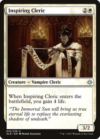 Inspiring Cleric [Ixalan] | Multizone: Comics And Games