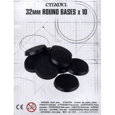 Citadel 32mm Round Base x10