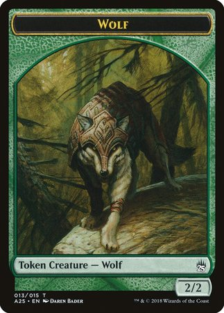Wolf Token (013) [Masters 25 Tokens] | Multizone: Comics And Games