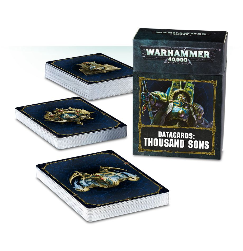 Datacards Thousand Sons-Miniatures|Figurines-Multizone: Comics And Games | Multizone: Comics And Games