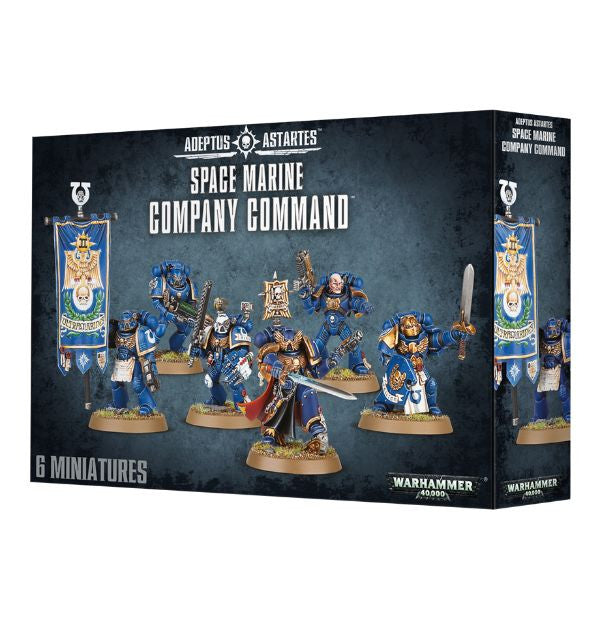 Space Marine Company Command-Miniatures|Figurines-Multizone: Comics And Games | Multizone: Comics And Games