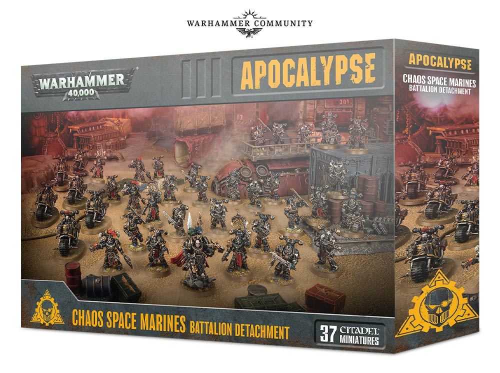 Apocalypse Chaos Space Marines Battalion Detachment-Warhammer 40k-Multizone: Comics And Games | Multizone: Comics And Games