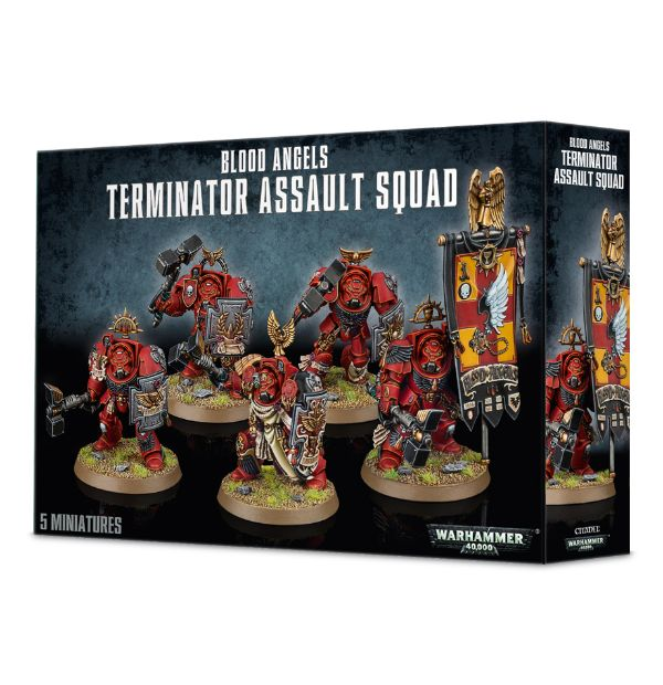 Blood Angels Terminator Assault Squad-Warhammer 40k-Multizone: Comics And Games | Multizone: Comics And Games