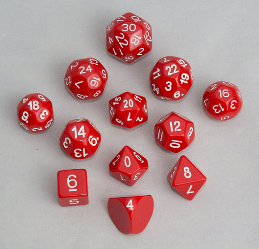 Accessories: Dice, Red (12 pcs)-Freeblades-Multizone: Comics And Games