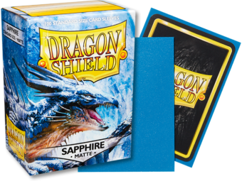 Matte Sapphire Dragon Shield Sleeves (100ct)-Dragon Shield-Multizone: Comics And Games | Multizone: Comics And Games