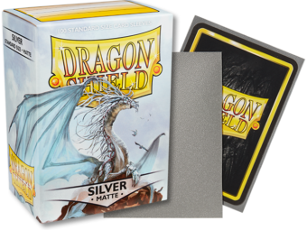 Matte Silver Dragon Shield Sleeves (100ct)