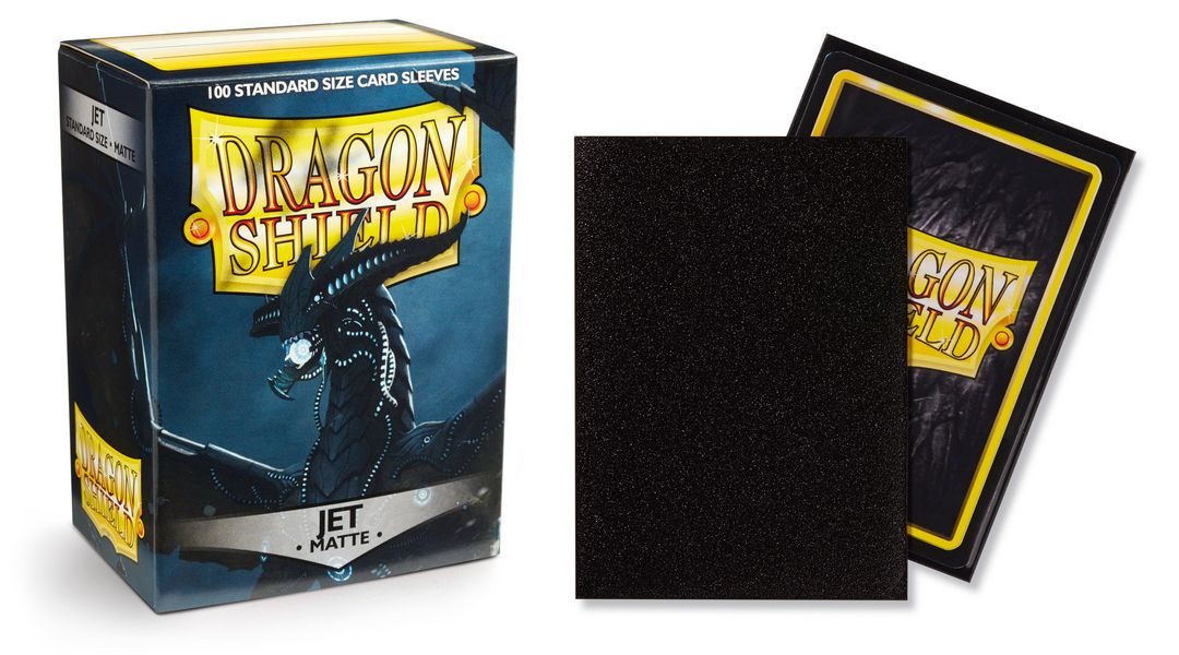 Matte Jet Dragon Shield Sleeves (100ct)-Dragon Shield-Multizone: Comics And Games | Multizone: Comics And Games