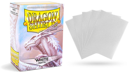 Matte White Dragon Shield Sleeves (100ct)-Dragon Shield-Multizone: Comics And Games