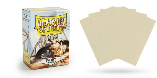 Matte Ivory Dragon Shield Sleeves (100ct)-Dragon Shield-Multizone: Comics And Games