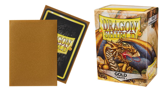 Matte Gold Dragon Shield Sleeves (100ct)