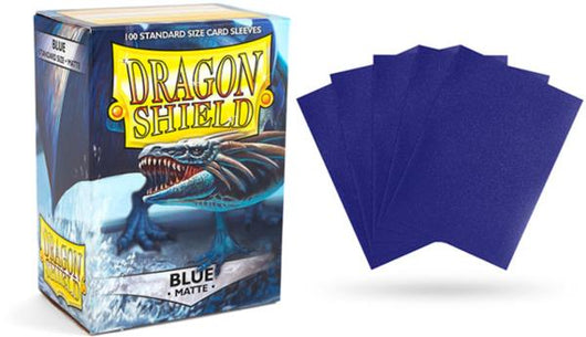 Matte Blue Dragon Shield Sleeves (100ct)