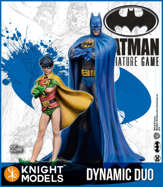BATMAN & ROBIN (THE DYNAMIC DUO) (Resin)-Batman Miniature Game-Multizone: Comics And Games | Multizone: Comics And Games