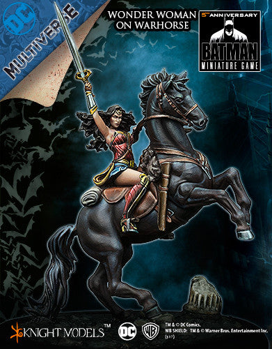 WONDER WOMAN ON WARHORSE-Batman Miniature Game-Multizone: Comics And Games | Multizone: Comics And Games