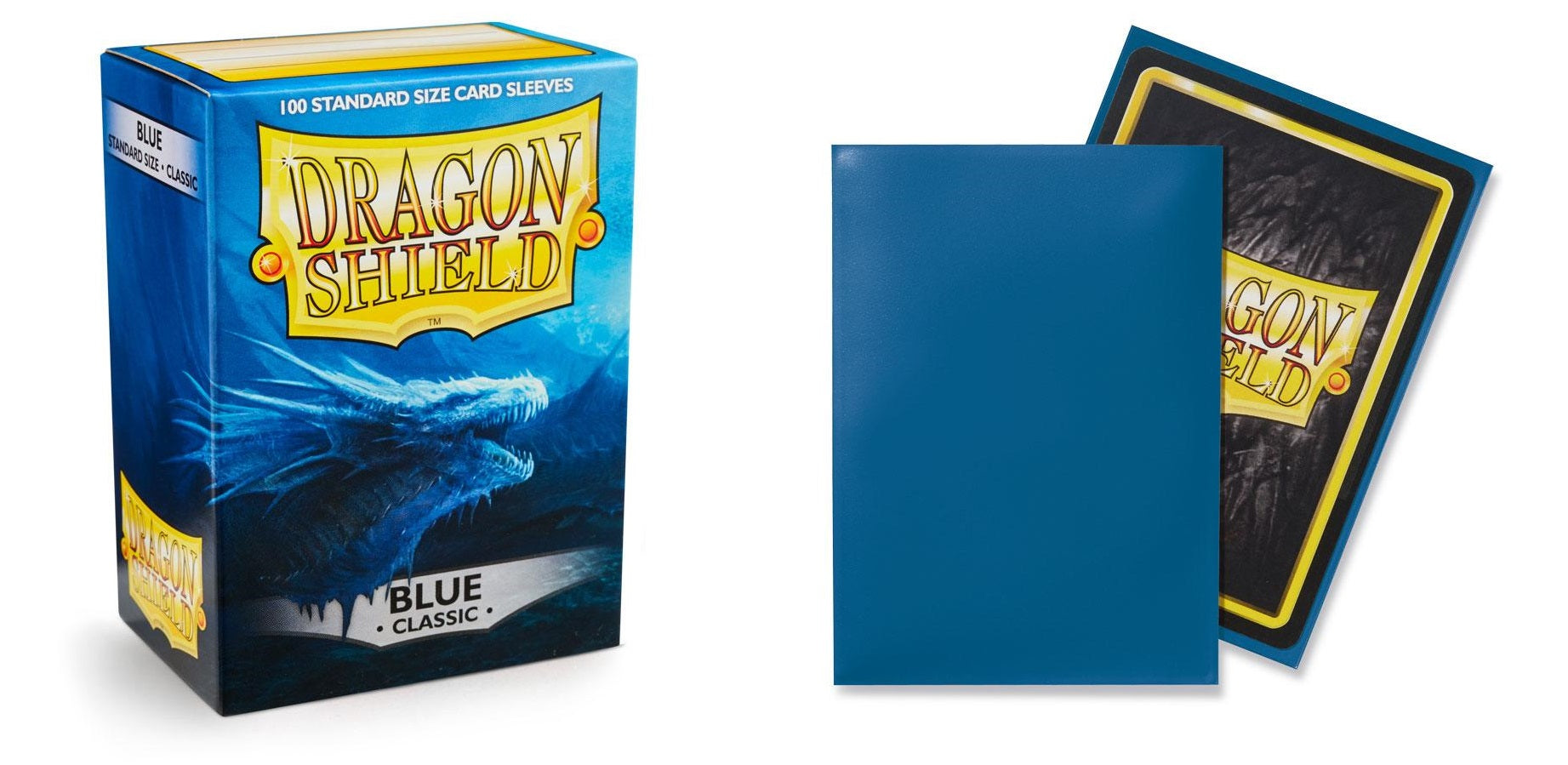 Classic Blue Dragon Shield Sleeves (100ct)-Dragon Shield-Multizone: Comics And Games | Multizone: Comics And Games
