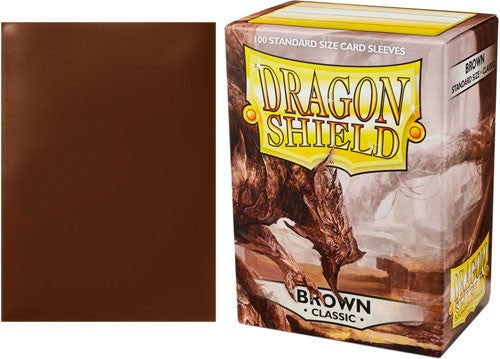 Classic Brown Dragon Shield Sleeves (100ct)-Dragon Shield-Multizone: Comics And Games | Multizone: Comics And Games